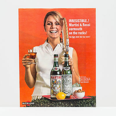 "Original 1960s Martini Rossi ""Irresistable"" Advert (Vintage Poster Art Ad)"