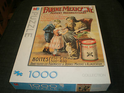 Rare Farine Mexicaine Mb 1000 Piece Vintage Jigsaw Puzzle Complete