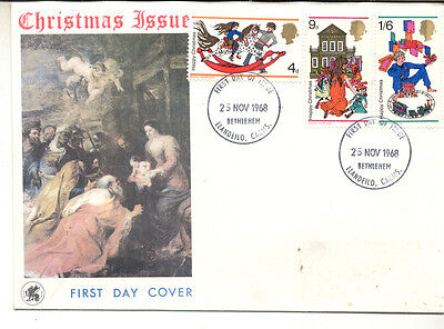 Great Britain First Day Cover 1968 Christmas (##)
