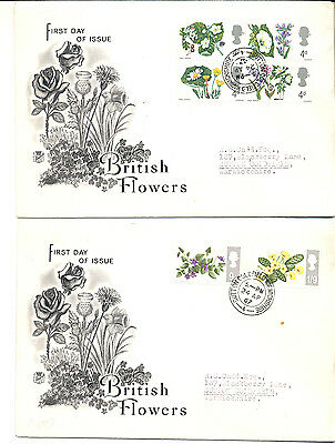 Great Britain First Day Cover 1967 British Flowers