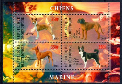 Bloc Sheet Chiens Dogs Neuf MNH ** Cote d'ivoire 2013 Private local/issue