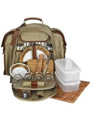 Fortnum and Mason 4 Person Canvas Picnic Backpack
