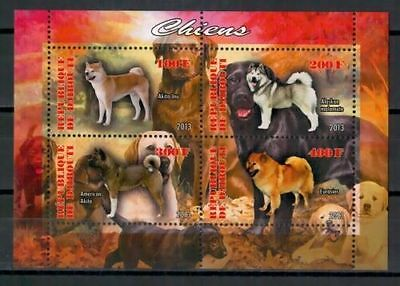 Bloc Sheet Chien Dog  Neuf MNH ** Djibouti 2013  Private local/issue