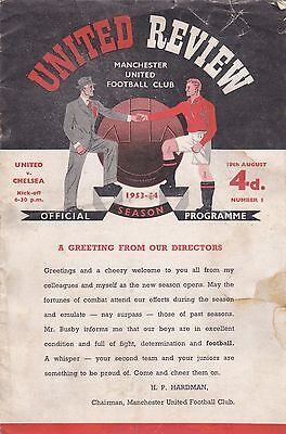 Manchester United v Chelsea, Division 1, Wednesday, 19th August 1953.