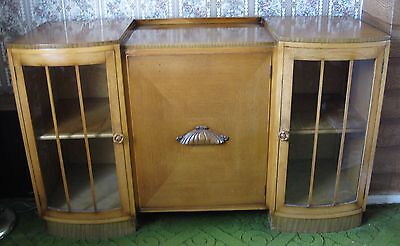 1950's sideboard unit glass cupboard lounge furniture retro vintage upcycle