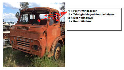 1975 Commer Truck Windscreen and Windows