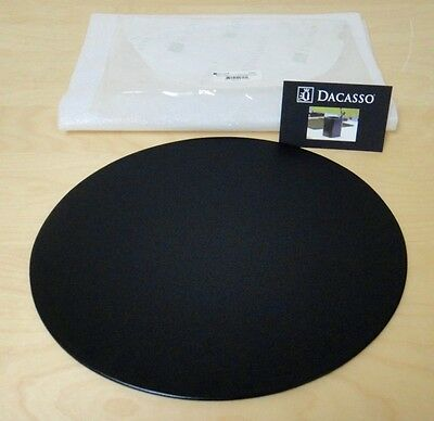 Dacasso P1014 Black Leather 17″ x 14″ Oval Conference Pad.
