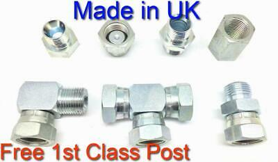 Hydraulic Adaptors Male & Female BSP Fittings BSPP 1st Class Post 1/8 to 1.1/2