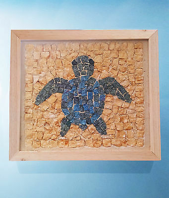 Handcrafted TURTLE mosaic art