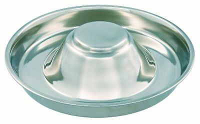 Trixie Stainless Steel Puppy feeding Saucer Weaning Bowl Medium or XL Whelping