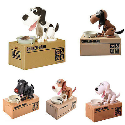 Choken Bako MECHANICAL Eating Doggy Coin Money Storage Bank Saving Box Toy Gift