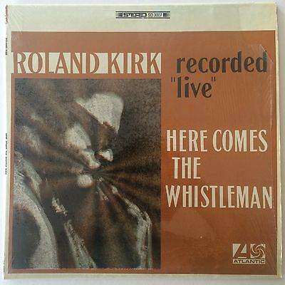 ROLAND KIRK - HERE COMES THE WHISTLEMAN - Orig US Blue/Green Atlantic LP