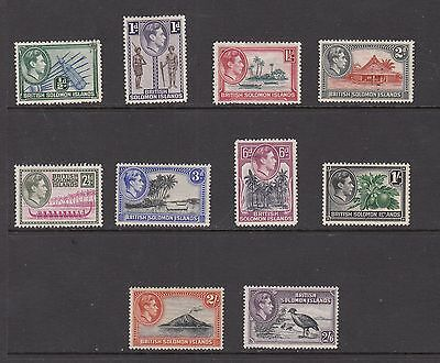 BRITISH SOLOMON ISLANDS GV1  STAMPS  UNUSED VALUES TO 2/6  .Rfno.634.