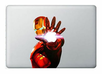 "IRON MAN Avengers Marvel Laptop Vinyl Sticker for MacBook 13"",15"" or 17"""