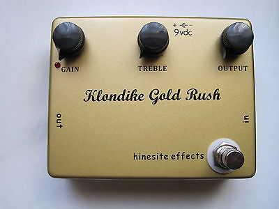 Klondike Gold Rush Preamp Booster Overdrive Pedal  2 Years Warranty