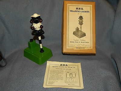 """Rare Vintage 1950's  S.e.l Traffic Lights """"brightway"""" ~ Battery Op ~ Working"""