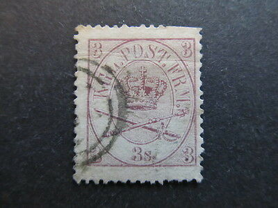 A3P27 Denmark 1864-68 3s Perf. 13 used #2