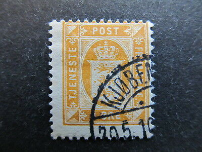 A3P28 Denmark Official Stamp 1902-06 1o Perf. 13 used #28