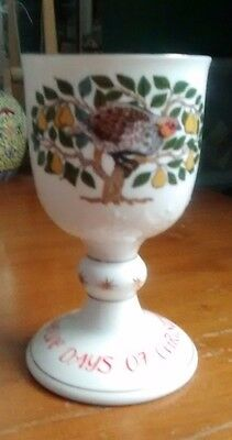 Royal Doulton, The Twelve Days of Christmas Goblet, First Day, 1980
