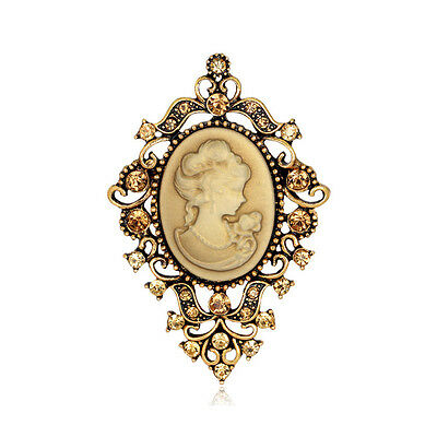 SPILLA CAMMEO 4x6,5CM - VINTAGE VICTORIAN CAMEO BROOCH WEDDING PARTY PIN BROACH