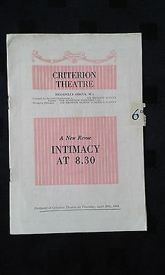 Intimacy At 8.30 Revue. Criterion Theatre, 1954
