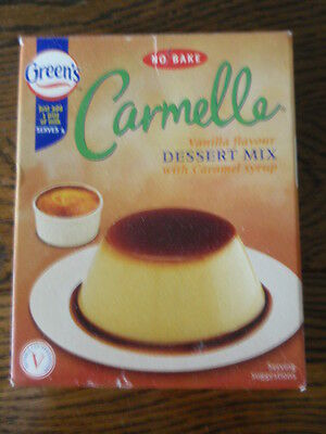 Vintage: Collector's Item - 'Green's'  Carmelle Dessert Mix Box (Dated Oct 2000)