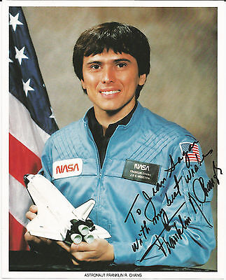 Astronaut Franklin R Chang STS-61-C, STS-34,46,60,75,91,111. Signed photo