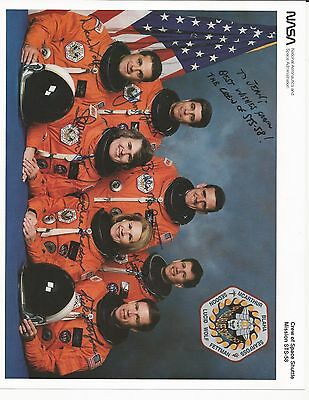 Astronaut Crew STS - 58 signed photo