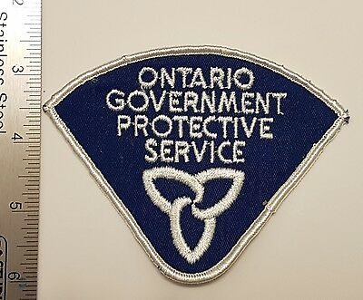 Ontario Government Protective Service OGPS Patch OPP Ontario Provincial Police