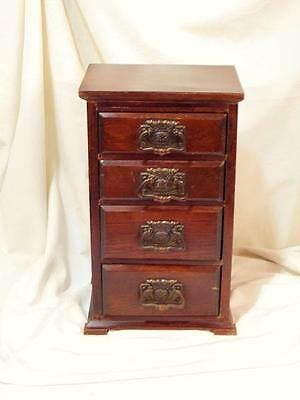 A Lovely Petite  Antique Table Top Art Nouveau Chest Of Drawers
