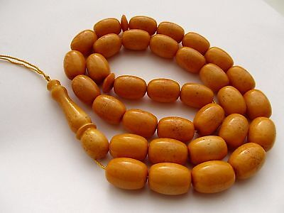 ISLAMIC PRAYER 33 Beads NATURAL BALTIC AMBER