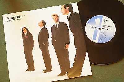"""Rare Tin Machine Under the God! plus Interview 10"""" 45 RPM Picture Sleeve"""