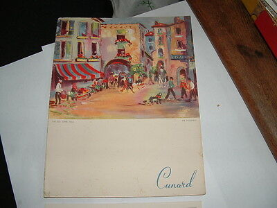 RMS  Sylvania luncheon Menu July  28 th1958 + Postcard Of Sailings  Liverpool