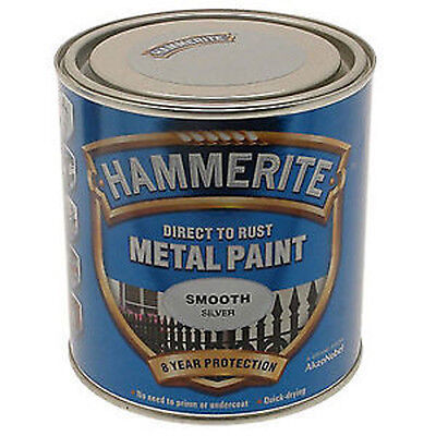 Hammerite Metal Smooth Silver - 2.5 Litre Paint Special Offer