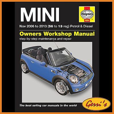 4904 Haynes Mini Petrol & Diesel (Nov 2006 - 2013) 56 to 13 Workshop Manual