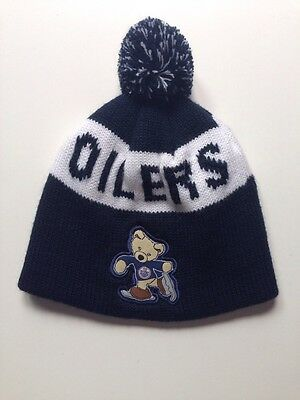 Youth Edmonton Oilers Toque Hat NHL Navy Blue NEW