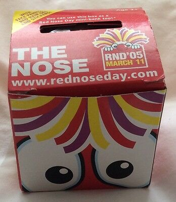 """Comic Relief Red Nose Day 2005 Nose with Hair """"Koosh"""" - Brand New in Box"""
