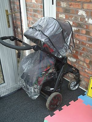 MAMAS & PAPAS 'Glide' Pram Pushchair and Cot Black and Red - Great Condition!