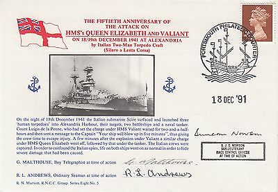 8RNCC5 50th Anniv of the attack on HMS Queen Elizabeth & Valiant Signed 3