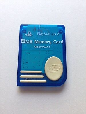 PlayStation 2 8MB Memory Card Magic Gate Blue Official Sony Product