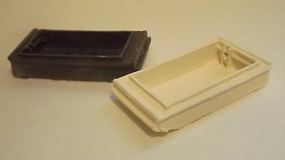 N-Scale 2pcWaterline Scow/ Barge's 1:160 Model Train Detail Unfinished