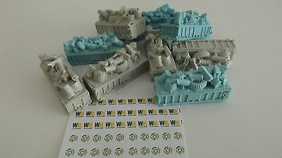N-Scale 12pc.20yd Roll-Off  Dumpsters w/Garbage 1:160 Unfinished