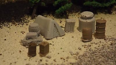 N-Scale Unfinished Moonshiners Camp/Train Detail Accessories