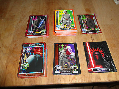 Force Attax Extra The Force Awakens Base Foil Holo Pop-up LESA lot 115 cards