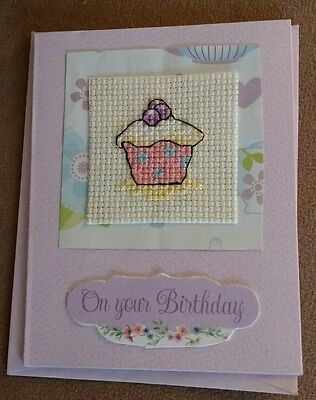 completed cross stitch birthday cards