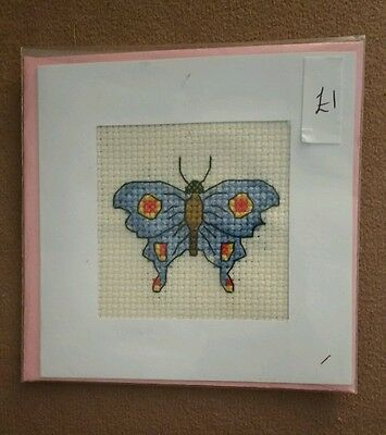 completed cross stitch birthday/mother's day card