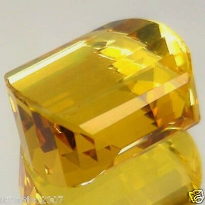 35.71Ct~Vvs~Big~Awesome Natural Golden Yellow Fancy Briolette Citrine~Dazzling~