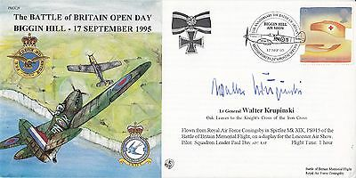 JS(CC)9g Battle of Britain Open Day Biggin Hill  signed by Walter Krupinski