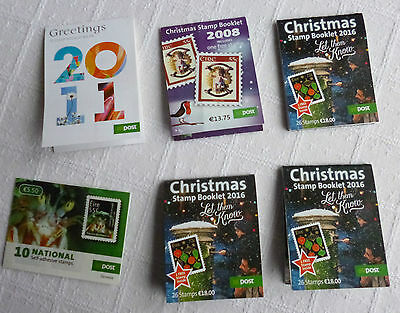 Six Ireland An Post Stamp Booklets - Used - No stamps