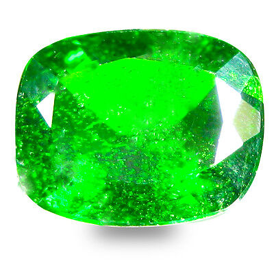 2.87 ct  Excellent Cushion Shape (10 x 8 mm) Green Chrome Diopside Gemstone